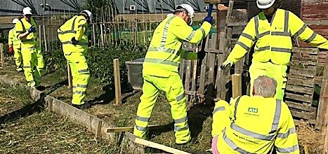 IDMT's Garden Force in action supporting Cambridge Cyrenians